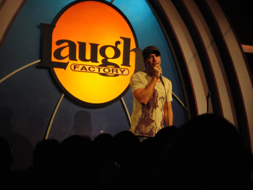 Dane Cook doing standup at The Laugh Factory in LA