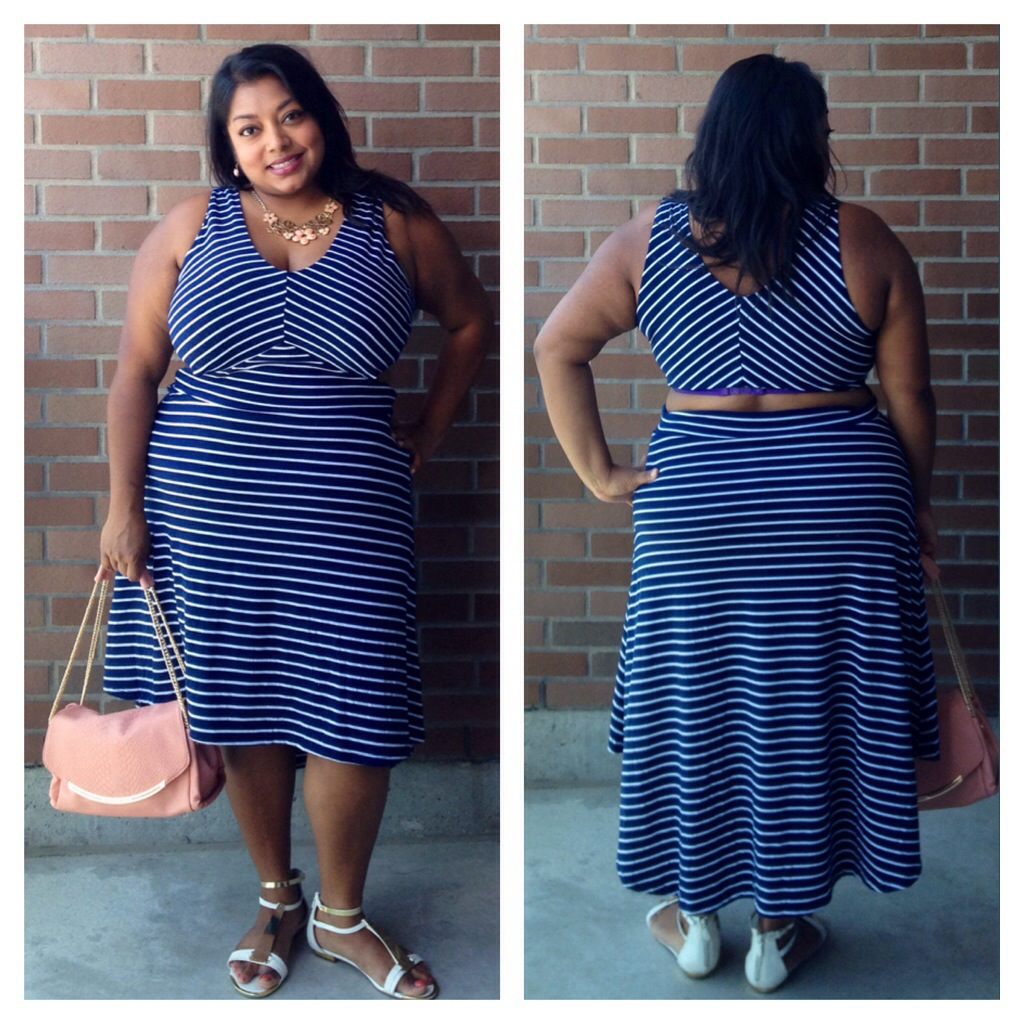 Backless Nautical Navy