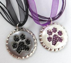 Dog PAW Print Necklaces-1