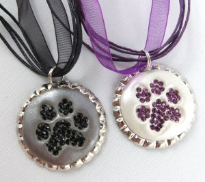 Dog PAW Print Necklaces-1