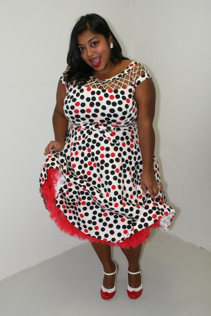 The Alika Circle Polka Retro Dress