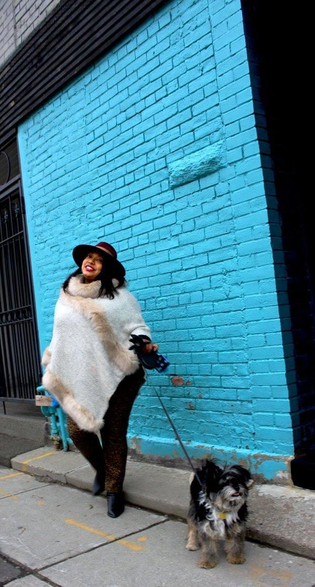 Winter Outerwear: Faux FurPoncho